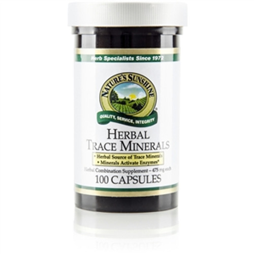 Nature's Sunshine Herbal Trace Minerals, 100 Capsules, Supports the glandular, digestive and intestinal systems.
