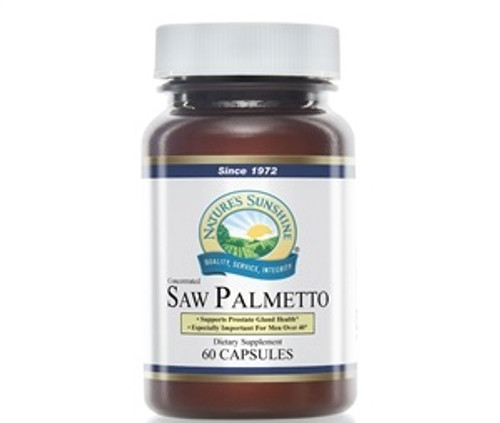 Nature's Sunshine Saw Palmetto Conc 60 Capsules 3635-9