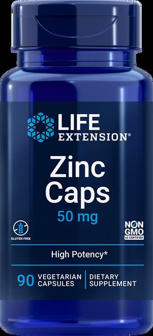 Life Extension Zinc 50 mg, 90 Vegetarian Capsules Item # 01813 (01813)