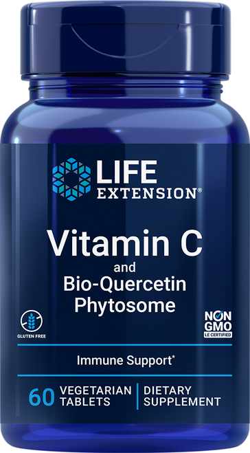 Life Extension Vitamin C and Bio-Quercetin Phytosome 60 Vegetarian Tablets (02228)