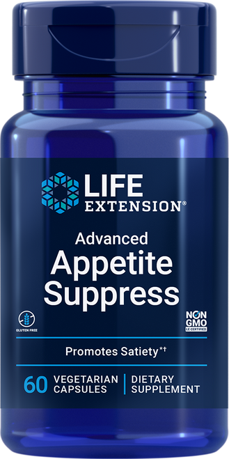 Life Extension Advanced Appetite Suppress 60 Vegetarian Capsules #01807