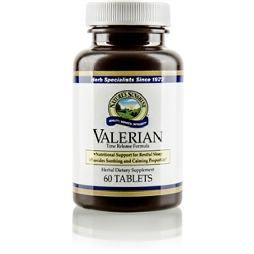 Nature's Sunshine Valerian Root Extract Time Release 60 Tablets #721-1