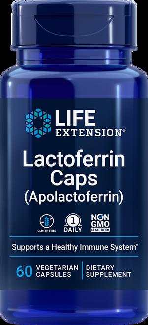 Life Extension Lactoferrin Caps Apolactoferrin 60 Vegetarian Capsules (01681)