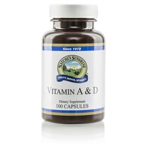Nature's Sunshine Vitamin A & D 100 Capsules #4065-3