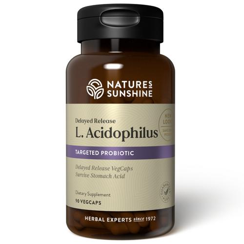 Nature's Sunshine Acidophilus 90 Capsules, Provides friendly gut bacteria, Delivers 200 million beneficial bacteria per serving.