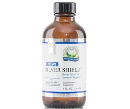 Nature's Sunshine Silver Shield with Aqua Sol 18 ppm 4oz #427-1