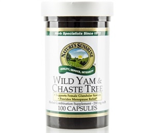Nature's Sunshine Wild Yam & Chaste Tree 100 Capsules #1108-7,