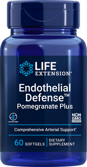 Life Extension Endothelial DefenseTM Pomegranate Plus 60 Softgels