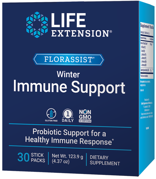 Life Extension Florassist Winter Immune Support 30 Stick Packs