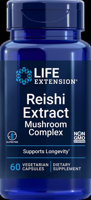 Life Extension Reishi Extract Mushroom Complex 60 Vegetarian Capsules