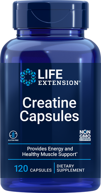 Life Extension Creatine Capsules 120 Capsules Item # 01529