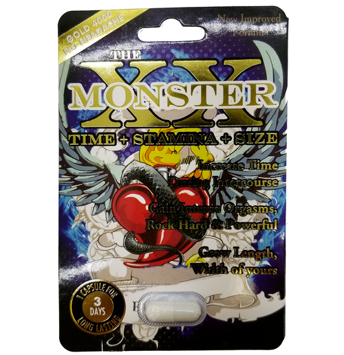 XX Monster Male Enhancement 1 Capsule or 6 Capsules