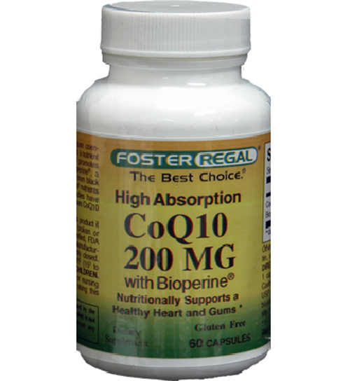 Foster Regal 200mg CoQ10 with Bioperine 60 Capsules