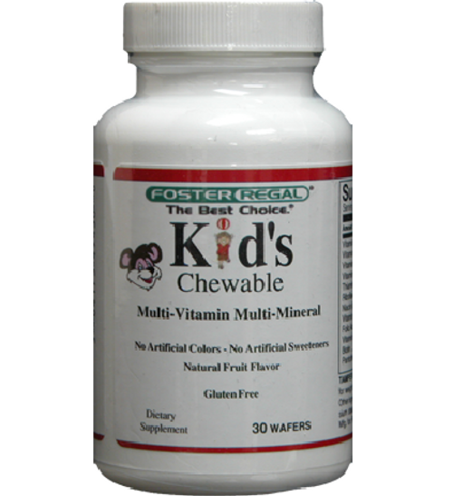 Foster Regal Kid's Chewable Multi-Vitamin Multi-Mineral Complete 30 Chewable Wafers