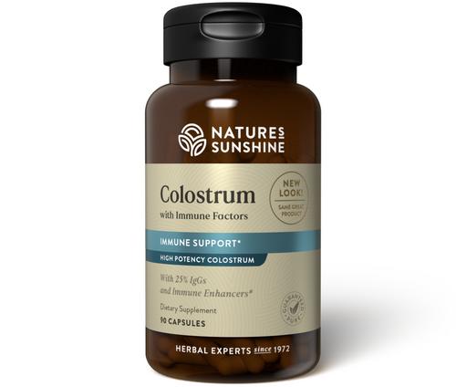 Nature's Sunshine Colostrum w/Immune Factors 90 Capsules