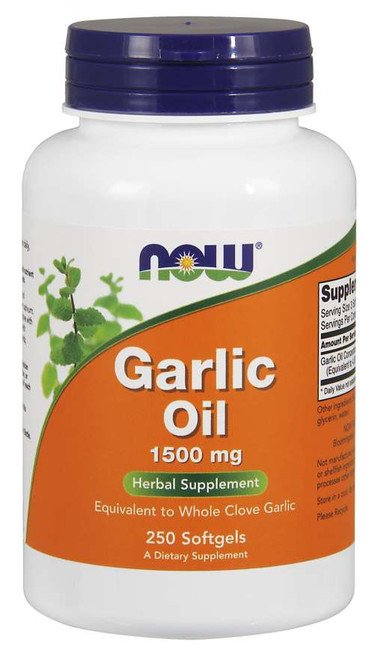 Now Foods Garlic Oil 1500 mg - 250 Softgels
