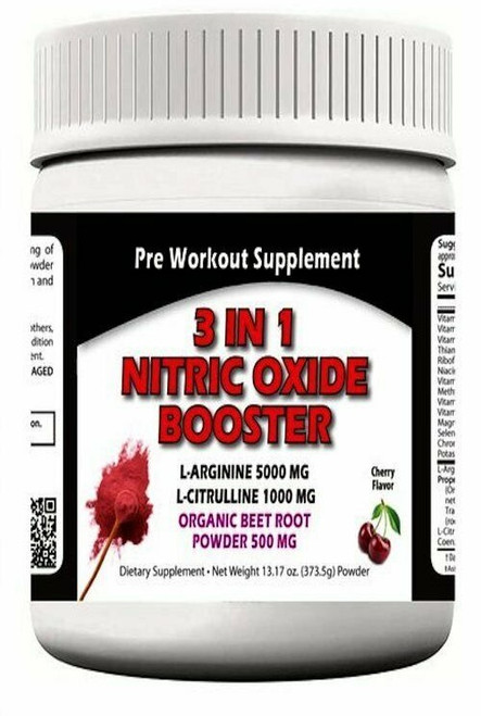 3 In 1 Nitric Oxide Booster Pre Workout 13.17 oz