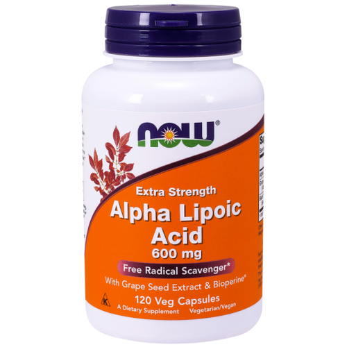 Now Foods Alpha Lipoic Acid 600 mg 120 Vegetarian Capsules #3045, Many nutritionists and researchers refer to Alpha Lipoic Acid ALA as the universal antioxidant based on its fat/water solubility.