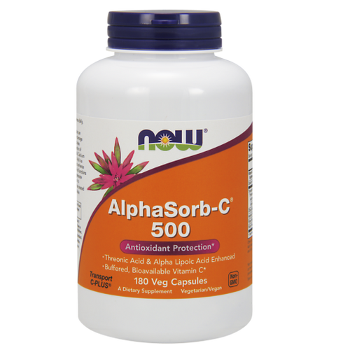 Now Foods AlphaSorb-C 500 180 Vegetarian Capsules, #0717, upc733739007179