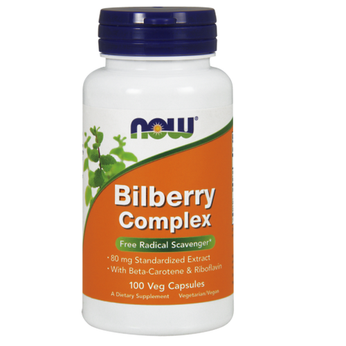 Now Foods Bilberry Complex 80mg 100 Capsules #4612