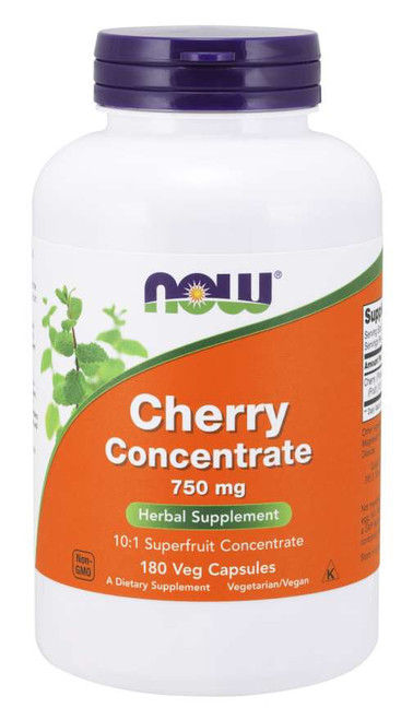 Now Foods Black Cherry Fruit Extract 750 mg 180 Vegetarian Capsules