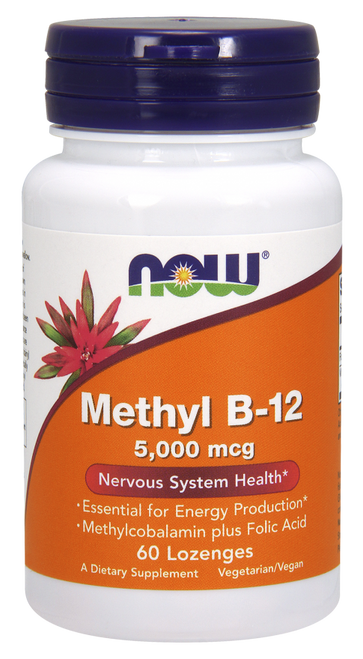 Now Foods Brain B-12 5000mcg 60 Lozenges #0496