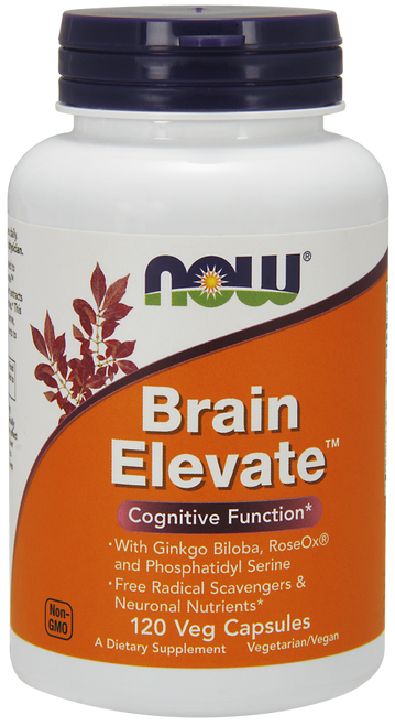 Now Foods Brain Elevate 120 Vegetarian Capsules #3304