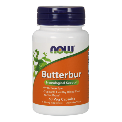 Now Foods Butterbur with Feverfew 75mg 60 Vegetarian Capsules #4602