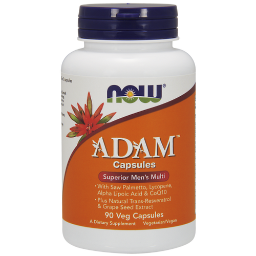 Now Foods ADAM Men's Multiple Vitamin 90 Vegetarian Capsules,  Many multiples on the market today contain unnecessary levels of excipients and added ingredients. ADAM is formulated to contain the lowest levels of these unneeded additional ingredients, leaving more room for higher levels of the nutrients men need to maintain optimum health.