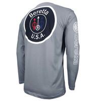 Beretta USA Logo Long Sleeve T-Shirt-Gray
