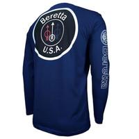 Beretta USA Logo Long Sleeve T-Shirt-Navy