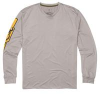 Browning Long Sleeve Sun Shirt-Gray/Gold