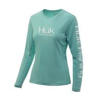 Huk Ladies Icon X Long Sleeve Tee-Bright Teal