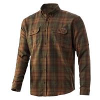 Huk Men's Maverick Flannel Shirt-Tiger's Eye