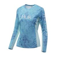 Huk Women's Icon X Camo Long Sleeve Tee-Boca Grande