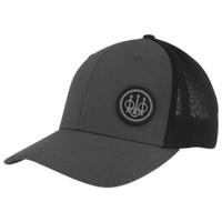 Beretta TK FlexFit Trucker Hat- Black/Gray- Front