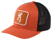 BROWNING CHARTED CAP- ORANGE- Front