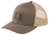 BROWNING BORDER CAP- PEWTER- Front