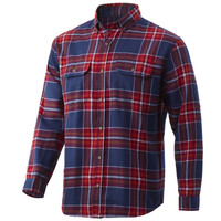 HUK MAVERICK FISHING FLANNEL- BLOOD RED- Front
