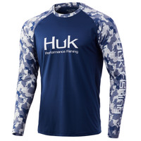 HUK CURRENT DOUBLE HEADER LS- BLUEFIN- Front