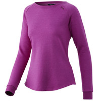 HUK WOMEN'S FOLLY CREW- ROSE VIOLET- FRONT