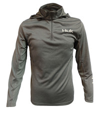 HUK ICON X COLDFRONT LS- IRON HEATHER Front