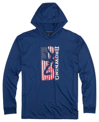 BROWNING AMERICANA TECH HOODIE- NAVY- Front
