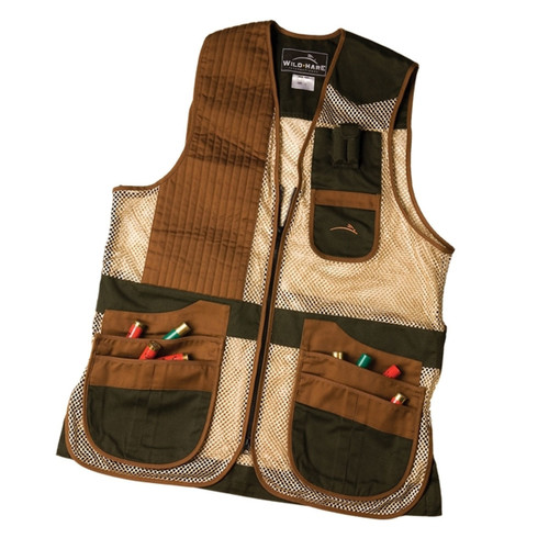 Wild Hare Junior Heatwave Mesh Vest-Forest Green & Brown