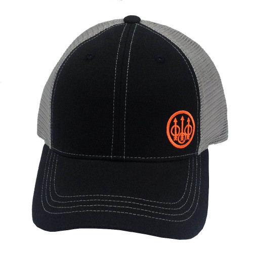 Beretta Offset Logo Trucker Cap-Black