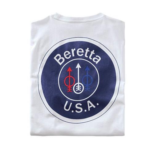 beretta Белая футболка с логотипом США