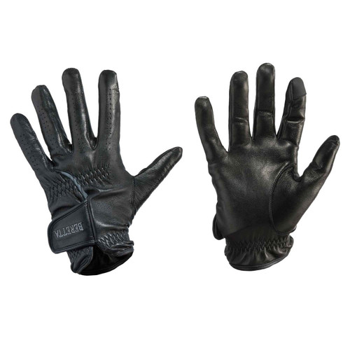 Beretta Black Leather Shooting Gloves