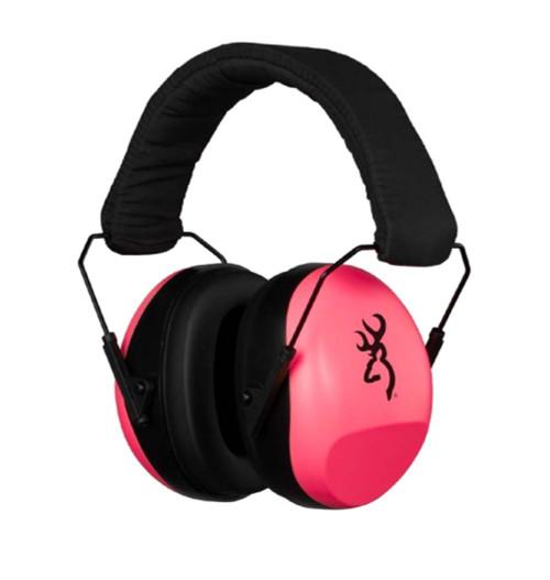 Browning Buckmark Hearing Protectors-Pink