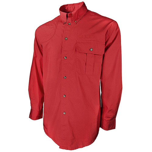Beretta New TM Long Sleeve Shooting Shirt-Red