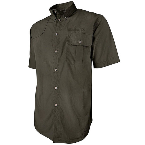 Beretta New TM Short Sleeve Shooting Shirt-Green
